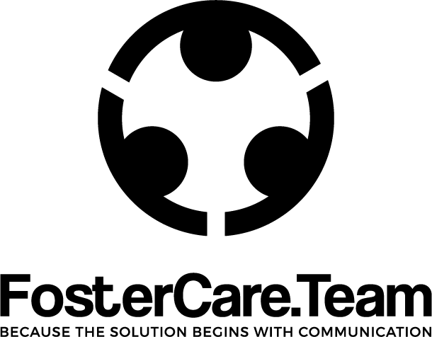 Black text FosterCare.Team logo on a white background