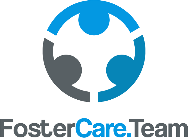 Full color FosterCare.Team logo on a white background without the tag line